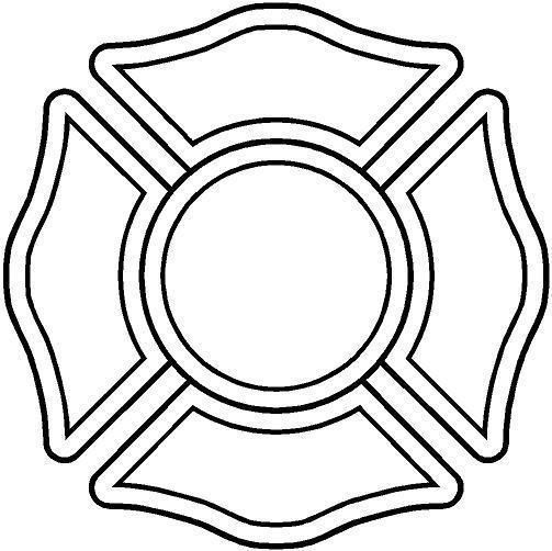 firefighter maltese cross stencil.