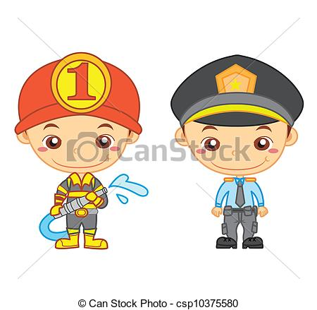 Vector of kids and jobs01.