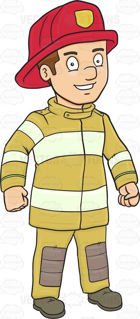 Firefighter uniform clipart.