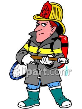 Girl Firefighter Cartoon.