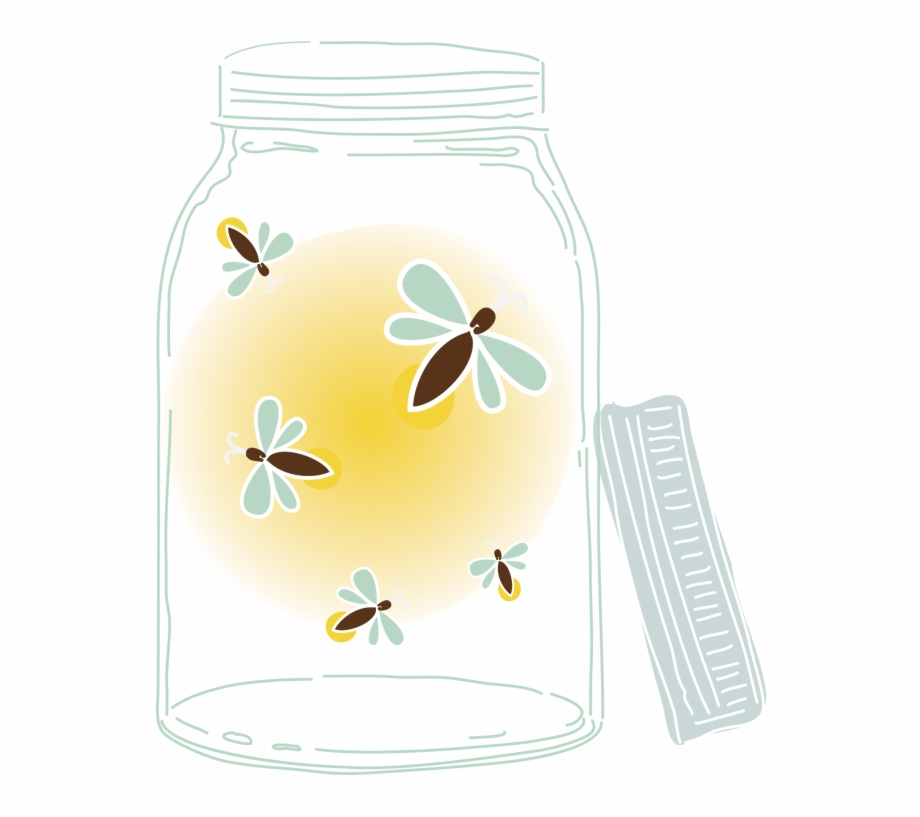 Pin Mason Jar With Fireflies Clipart.