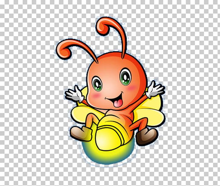 Cartoon , Cute Firefly PNG clipart.
