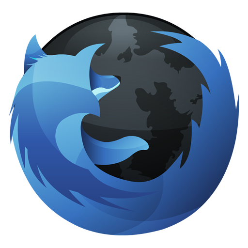 Mozilla Firefox Blue And Black Icon, PNG ClipArt Image.