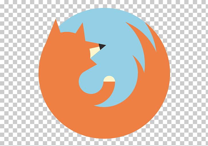Symbol computer illustration, Appicns Firefox, round orange.