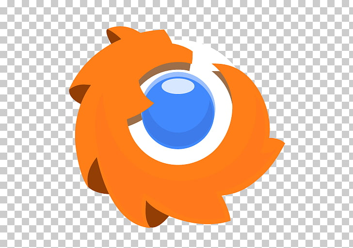 Computer fish logo carnivoran, Firefox, white, orange, and.