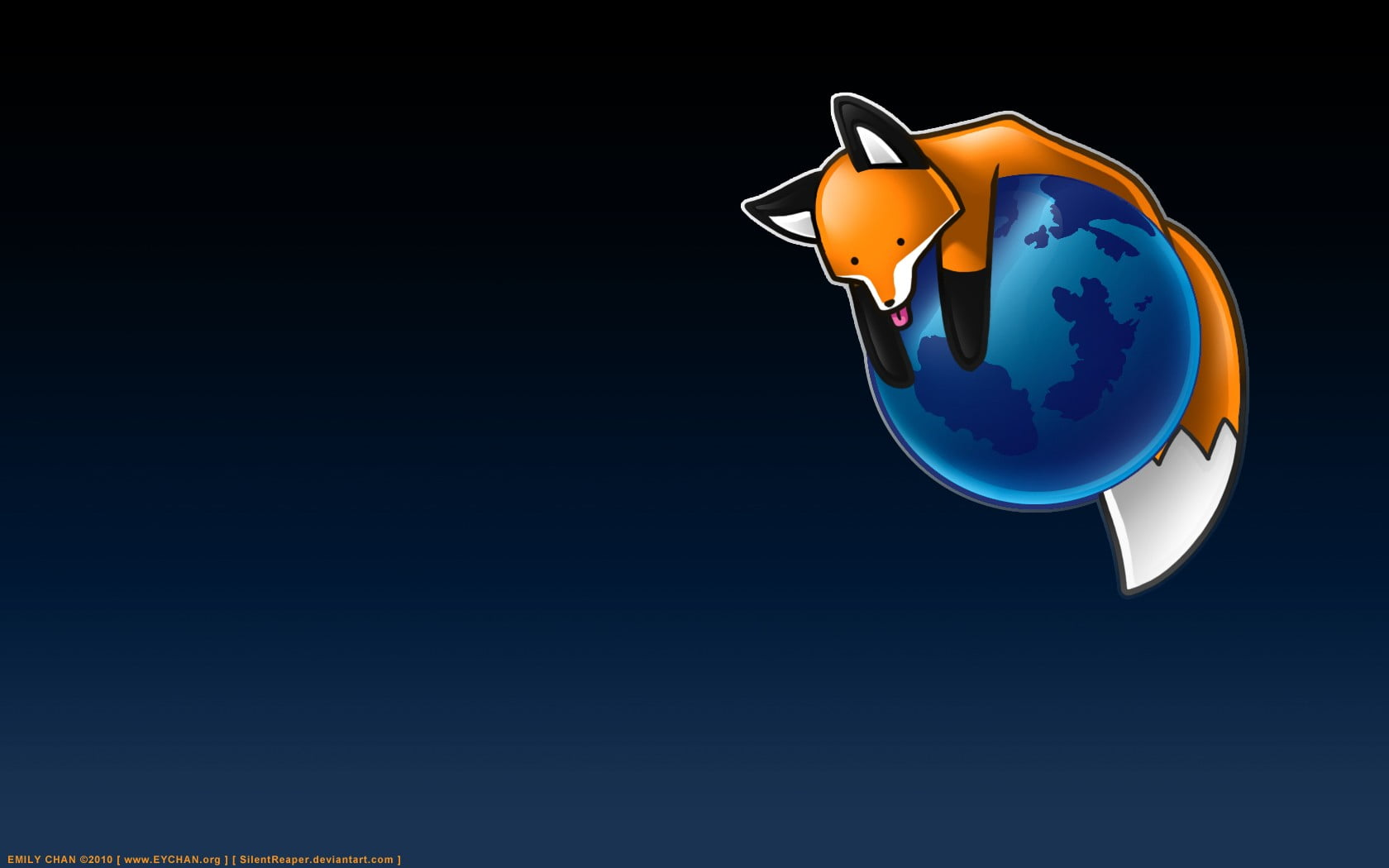 Brown fox on planet clipart, fox, animals, Earth, Mozilla.