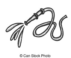 Fire hose clipart black and white.
