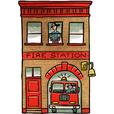 Fire house clipart.