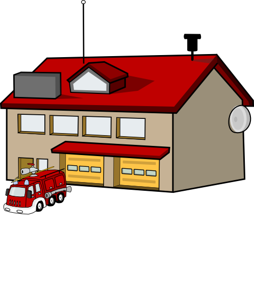 Firehouse Clip Art at Clker.com.