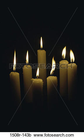Stock Photography of fire, light, objects, glowing, candles.