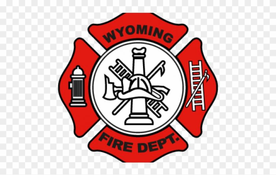Fire Truck Clipart Badge.