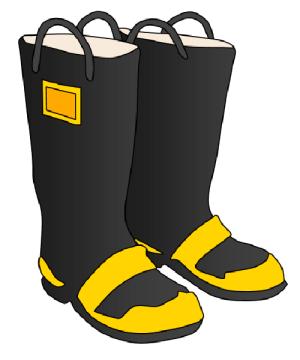 Firefighter Boots Clipart.