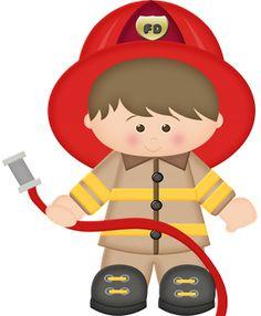 Fireman Boy Clipart.
