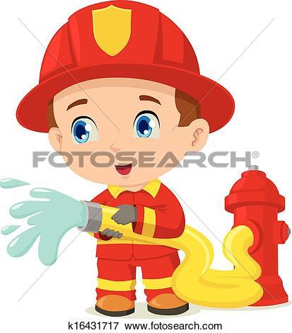 Clipart of Firefighter Helmet Yellow k6199763.