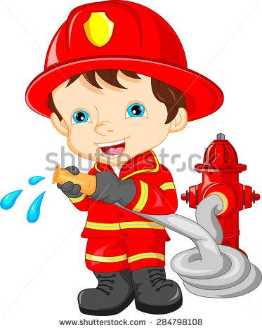 Boy Firefighter Clipart.