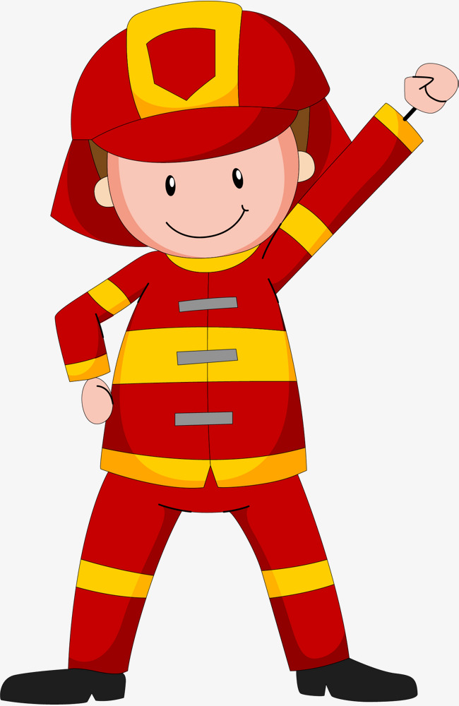 Cartoon Fireman, Fireman Clipart, Fist A #36963.