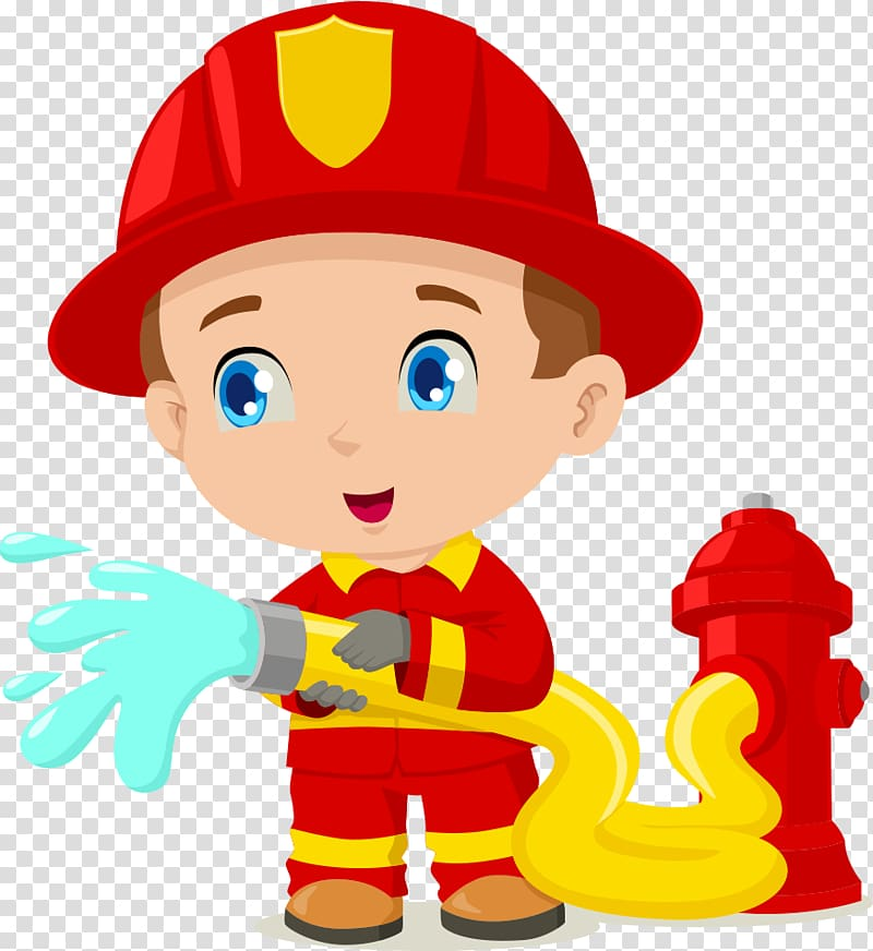 Fireman illustration, Firefighter Cartoon , Cartoon fireman.