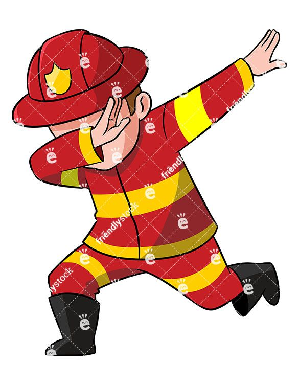 Dabbing Firefighter.