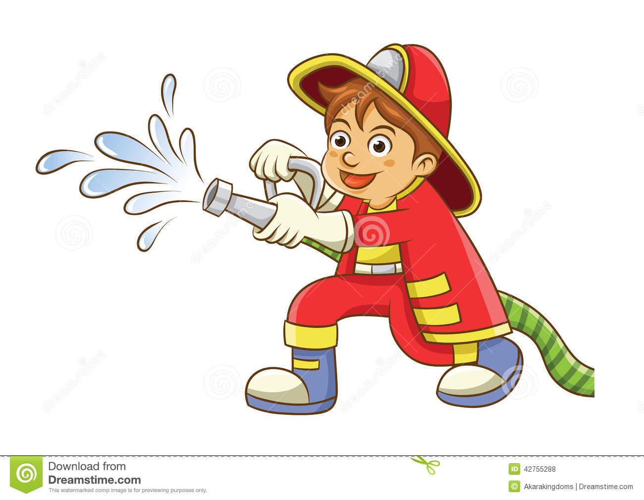 Clip art fireman.