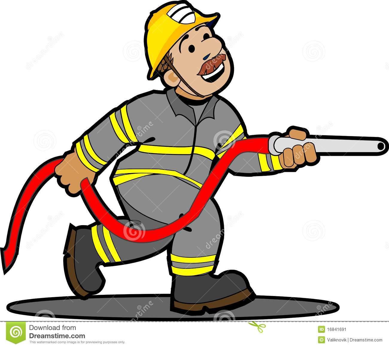 Cartoon Fireman Clipart.