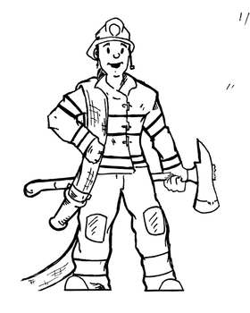 Fireman Clipart Worksheets & Teaching Resources.