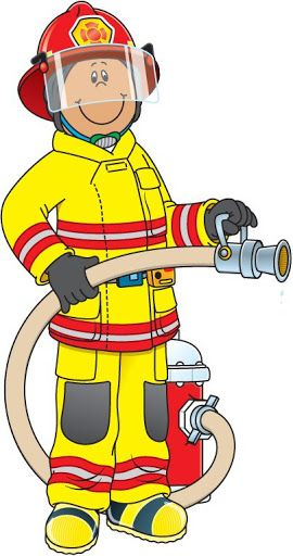 2724 Firefighter free clipart.