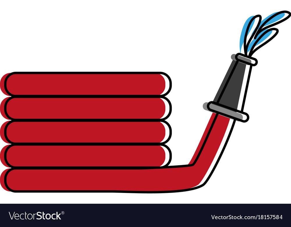 Fire hose icon image.
