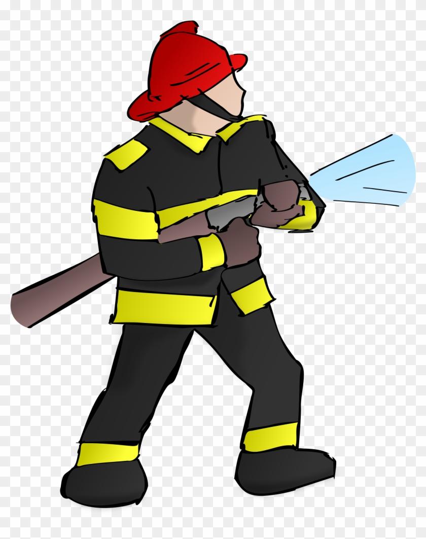 Firefighter Fire Fireman Hose Png Image.