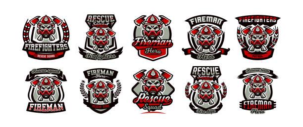 Best Firefighter Logo Illustrations, Royalty.