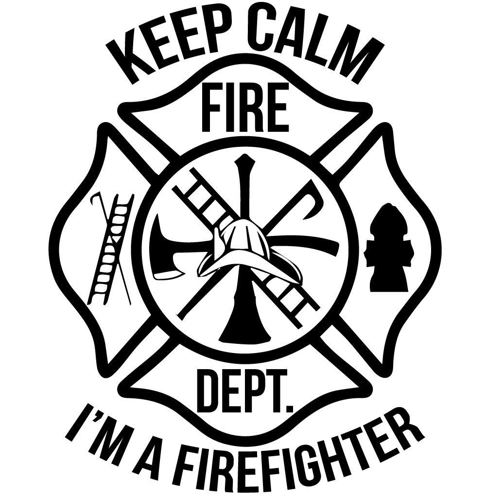 KEEP CALM I'M A FIREFIGHTER MALTESE CROSS WINDOW DECAL.