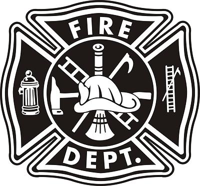 Firefighter Maltese Cross Vector Art.