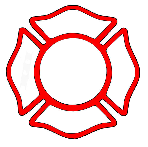 Firefighter Maltese Cross Clipart.