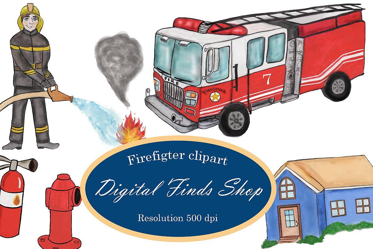 Firefighter clipart, fireman clipart, fire truck clipart PNG.
