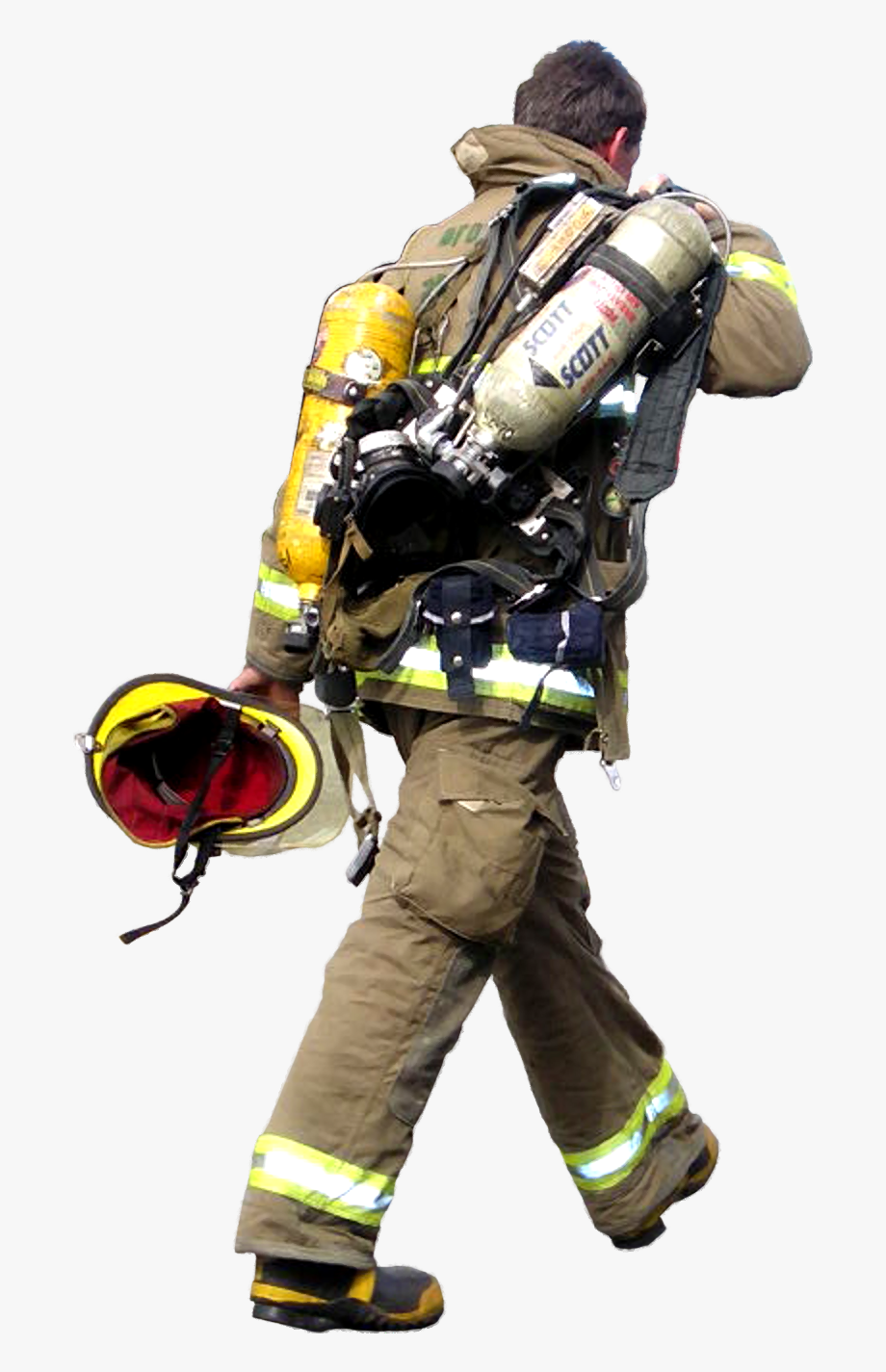 Firefighter Png Background Image.