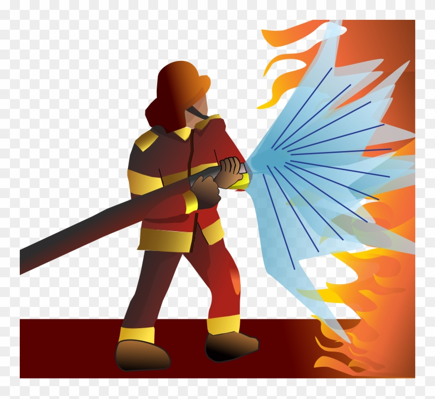 Download Firefighter Putting Out Fire Clipart Firefighter.