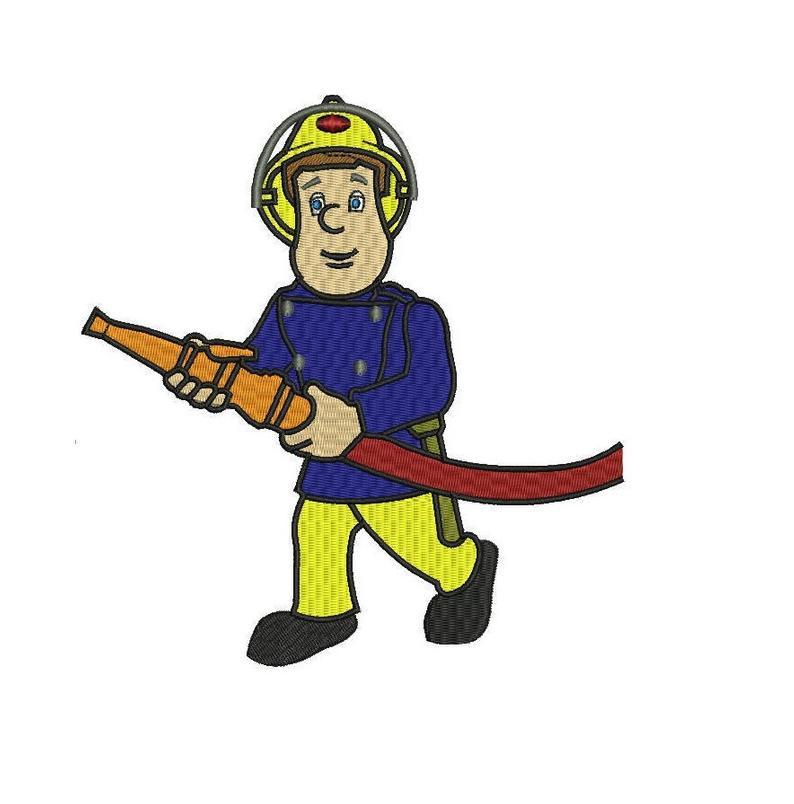Fireman Sam Machine Embroidery Design.
