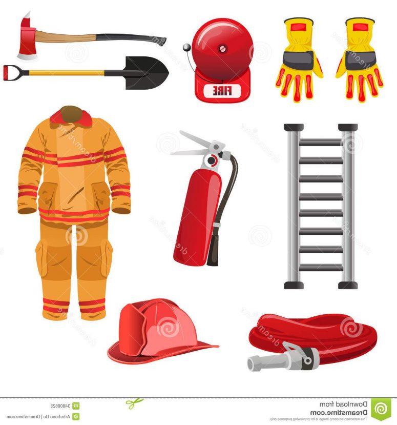 Fireman Tools Clipart.