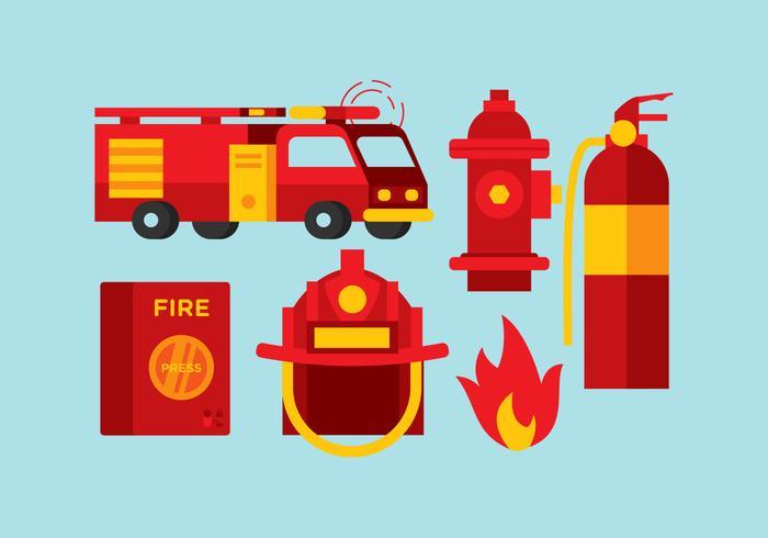 Vector Fireman Tools.