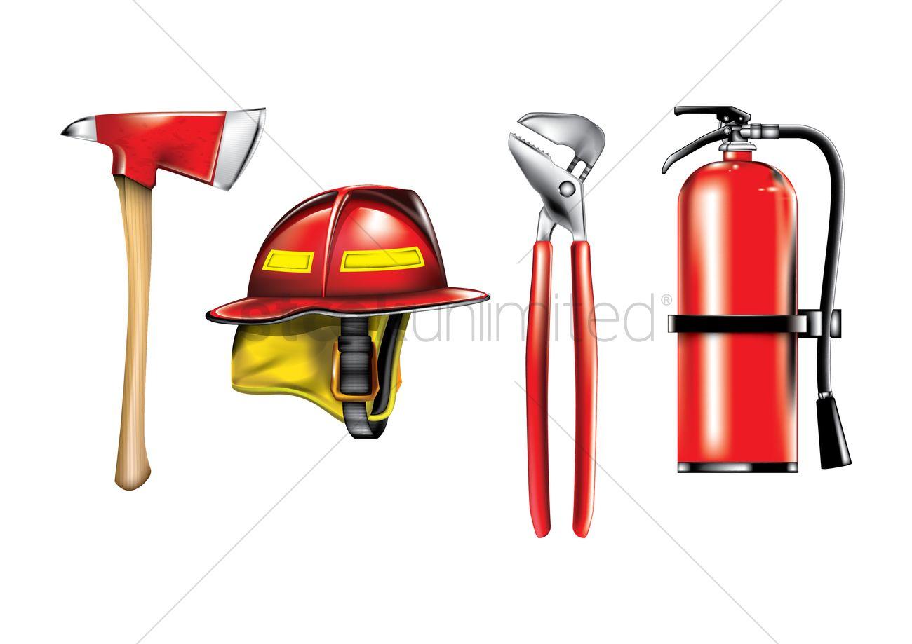 Fireman Equipment Clipart.