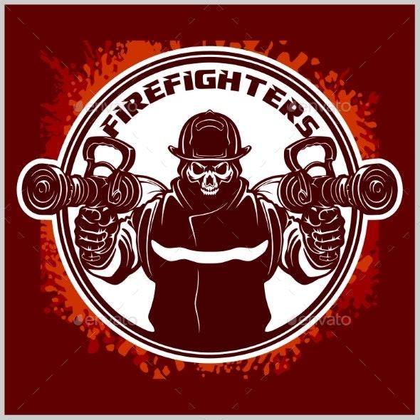 Fireman Graphic.