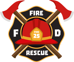 Firemen helmet emblem Logo Vector (.AI) Free Download.