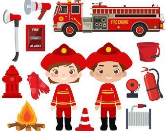 Fireman clipart.