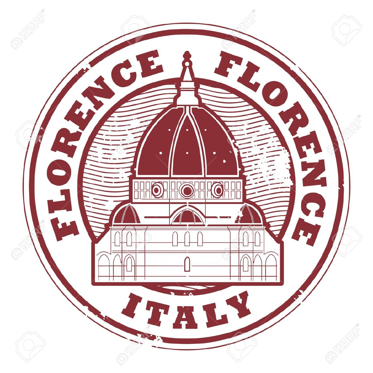Grunge Rubber Stamp With Words Florence, Italy Inside Royalty Free.