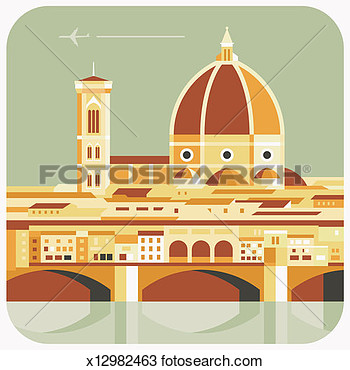 Florence Italy Clipart.