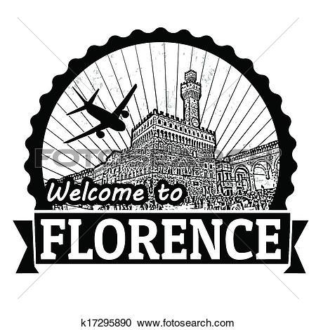 Clip Art of Skyline Florence k7007499.