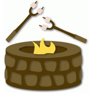 Fire pit & roasting sticks.