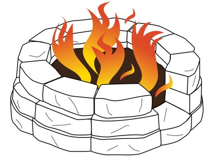 49 Cartoon Fire Pit, Cartoon Campfire Clipart.