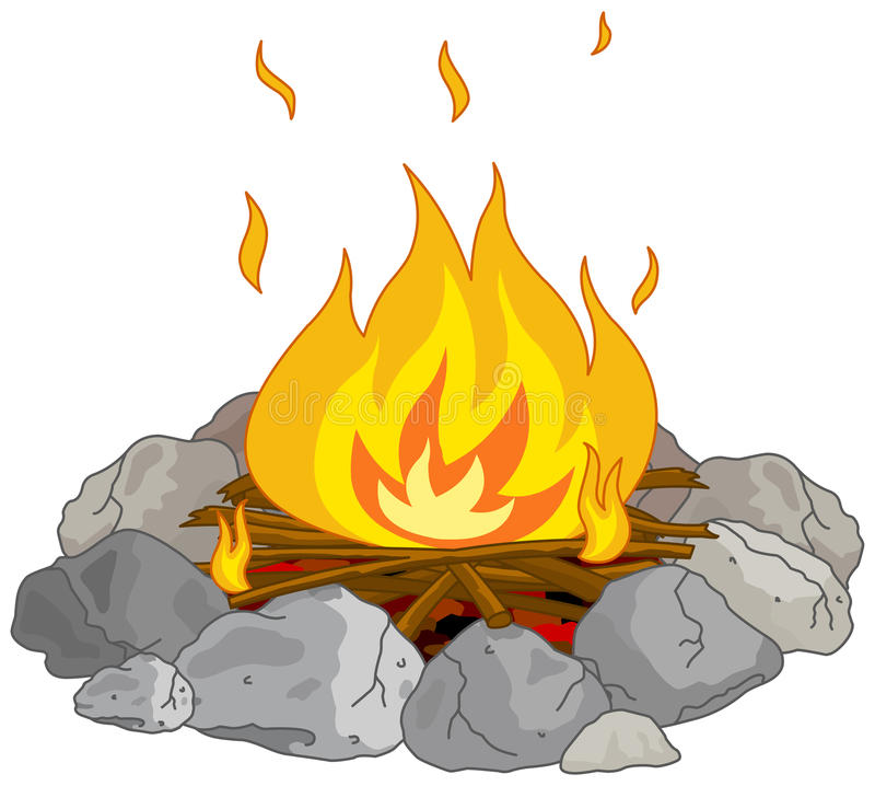 Fire Pit Stock Illustrations.