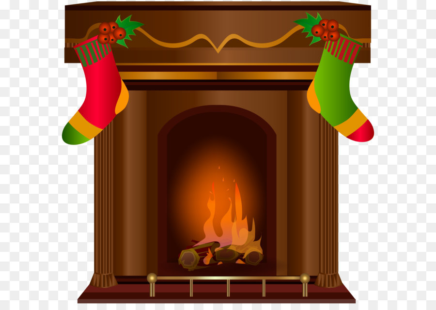 Christmas Fireplace png download.