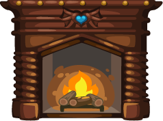 Fireplace Clipart.